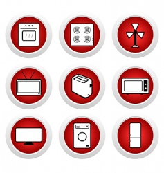 Digital appliance icons vector