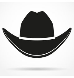 Silhouette symbol of cowboy hat vector