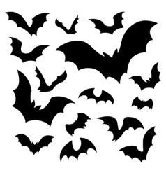 Bats silhouettes vector