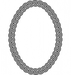 Oval frame with a meander vector