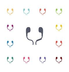Headphones flat icons set vector