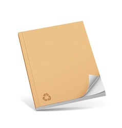 Cover recycle brown book with blank vector