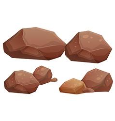 Big and small rocks vector