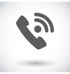Phone single flat icon vector