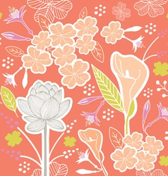 Flower pattern set 1d vector
