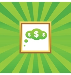 Dollar thought picture icon vector