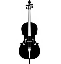 Cello silhouette vector