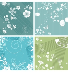Season patterns vector