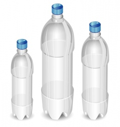 Plastic bottles vector