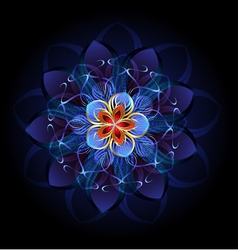 Abstract dark flower vector