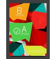 Abstract modern flyer - brochure template vector