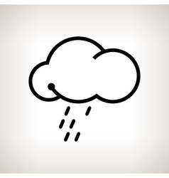 Silhouette cloud with the rain vector