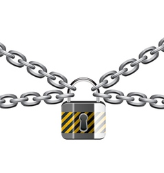 Chain and padlock vector