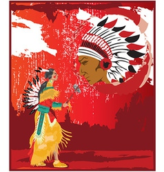 Native american cartoon vector