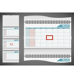 Blank standard wall calendar template isolated on vector