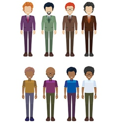 A group of faceless adults vector