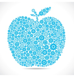 Apple design with gear stock vector
