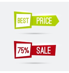 Set of glowing banners with discounts vector