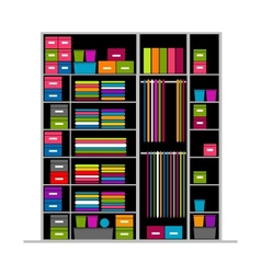 Wardrobe inside for your design vector