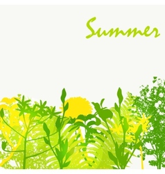 Abstract summer natural background vector