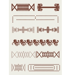 Vintage border retro lines original ornament vector