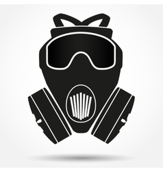 Silhouette symbol of gas mask respirator vector