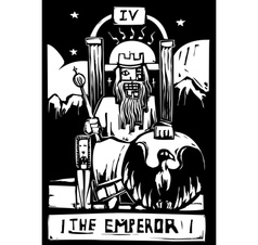Tarot card emperor vector
