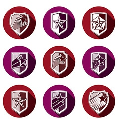 Heraldry set of military forces emblems detailed vector