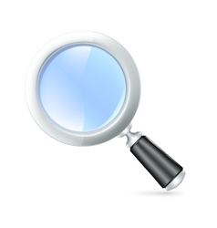 Magnifying lens icon vector