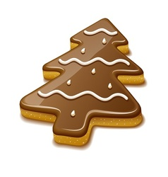 Christmas biscuit in form of vector