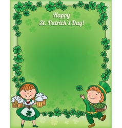 St patricks day frame vector