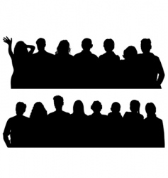 Silhouettes man and women vector