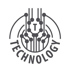 Logo abstract chip technology vector
