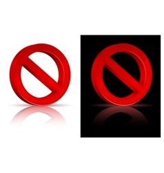 Forbidden sign vector