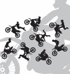 Motocross rider jump vector