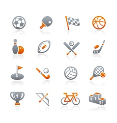 Sports icons graphite series vector