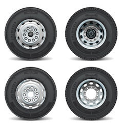 Truck tire icons vector