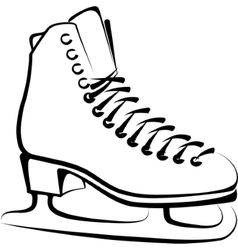 Ice-skate vector