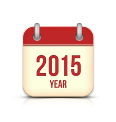 2015 year calendar app icon with reflection vector