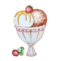 Watercolor ice cream vector
