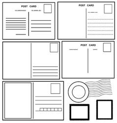 Postcards set vector