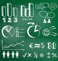 Infographic sketch on a school blackboard vector
