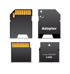 Digital flash memory mini card vector