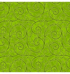 Seamless abstract liana twisted tendril background vector