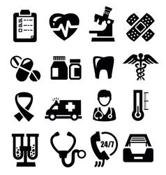 Medical icons vector