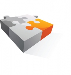 Abstract puzzle icon and logo vector