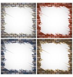 Painting brick walls vector