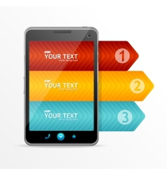 Smartphone with infographic option banner vector