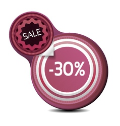 Sale tag with texture vector