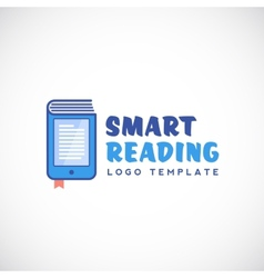 Smart or mobile reading abstract logo vector